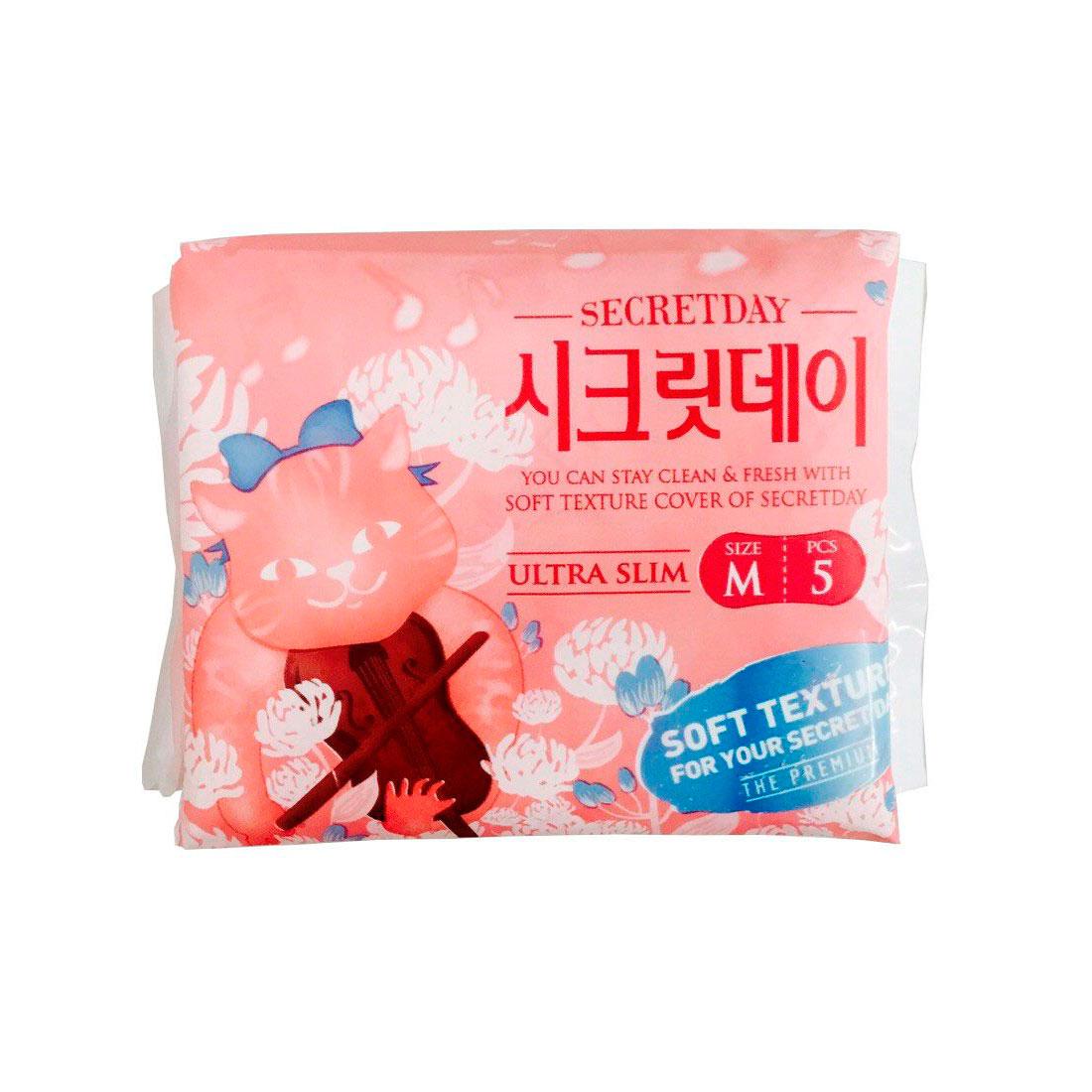 Органические прокладки Secret Day ультратонкие дышашие Мини-упаковка 5 шт<br>