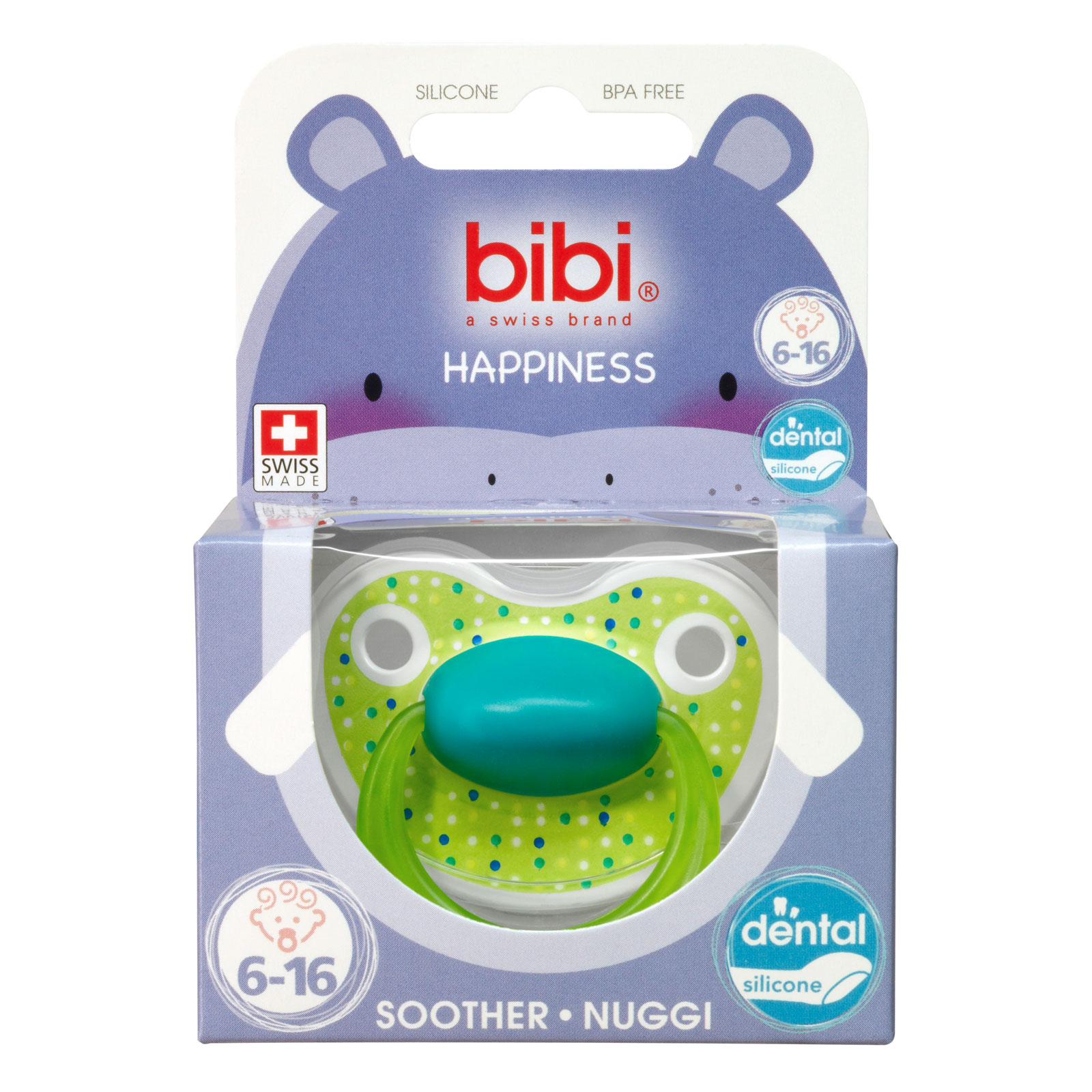 Пустышка Bibi Premium Dental Happiness LovelyDots (с 6 мес)<br>