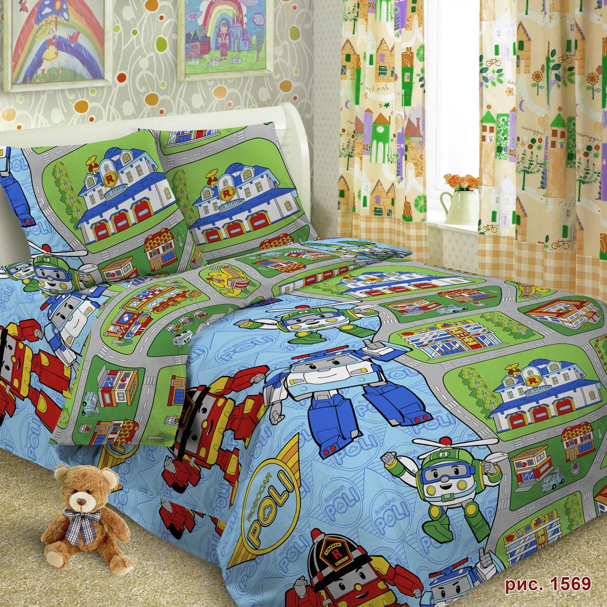 Комплект постельного белья детский Letto Робот<br>