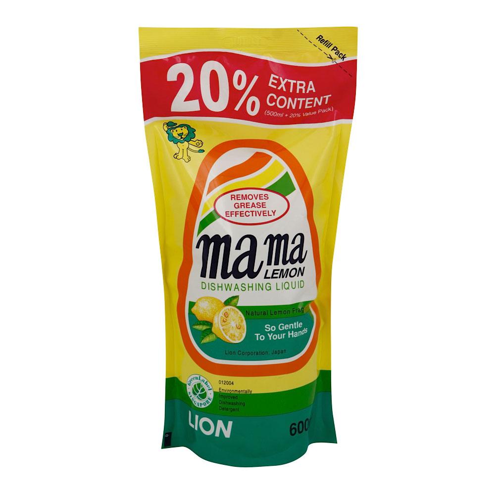 Средство для мытья посуды Lion Mama Lemon Лимон 600 мл запасной блок<br>
