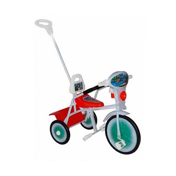 Велосипед трехколесный Малыш с ручкой и ограждением Красный<br>