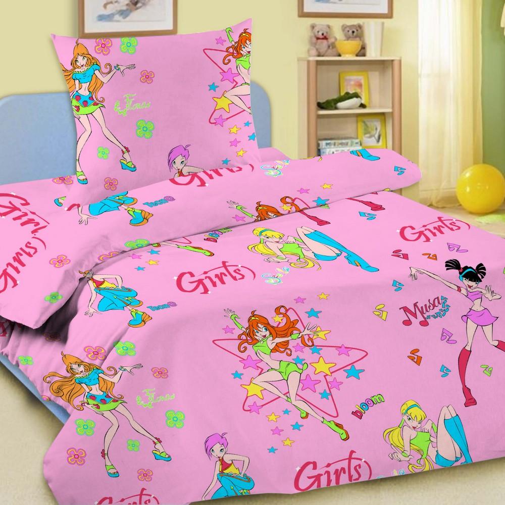 Комплект постельного белья детский Letto Гёрлз 1.5 спальный с наволочкой 50х70