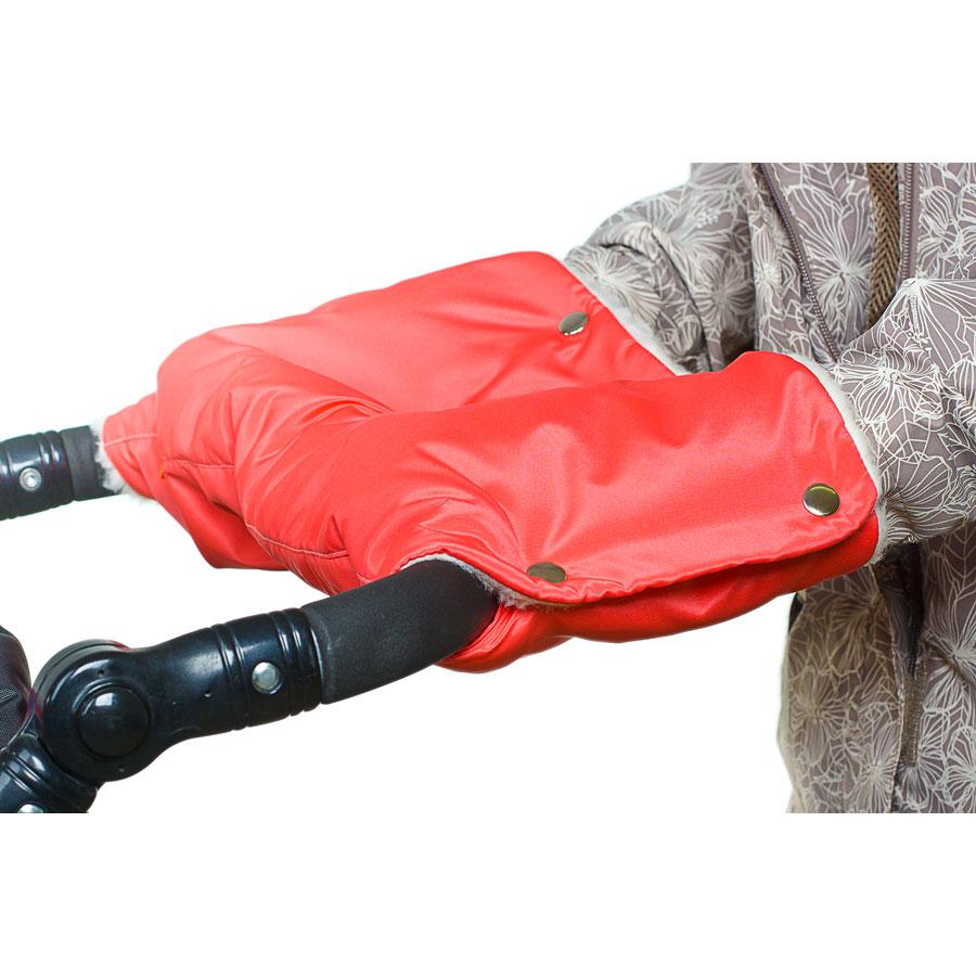 Муфта для коляски Чудо Чадо для защиты рук от холода на кнопках Коралловый<br>
