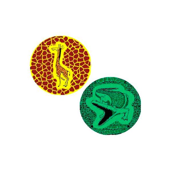 Мяч Гарант ПВХ 2 вида Жираф/Крокодил C04788 (2-630/2-640)<br>