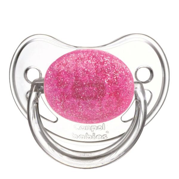 Пустышка Canpol Babies Moonlight Круглая латексная (с 6 мес) розовая<br>