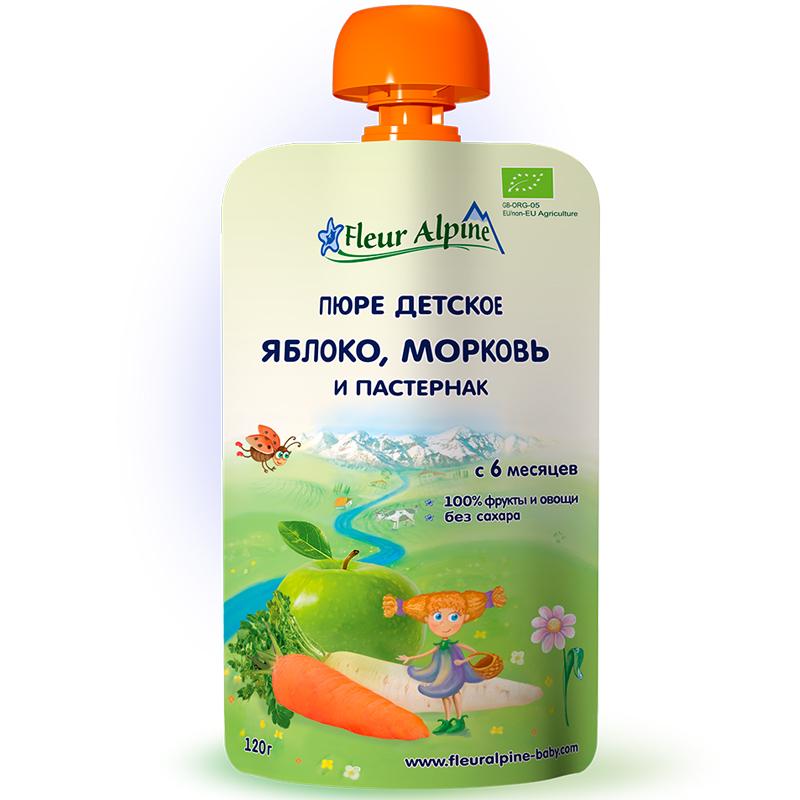 Пюре Fleur Alpine 120 гр Яблоко морковь пастернак (с 6 мес)<br>