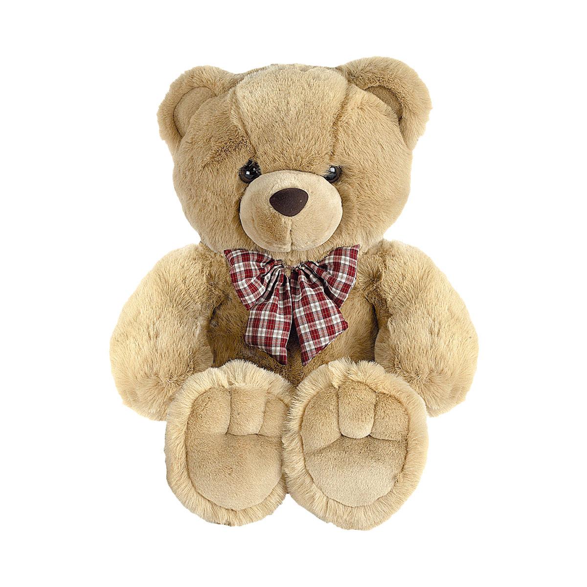 Мягкая игрушка AURORA Медведи Медведь с клетчатым бантом 56 см<br>