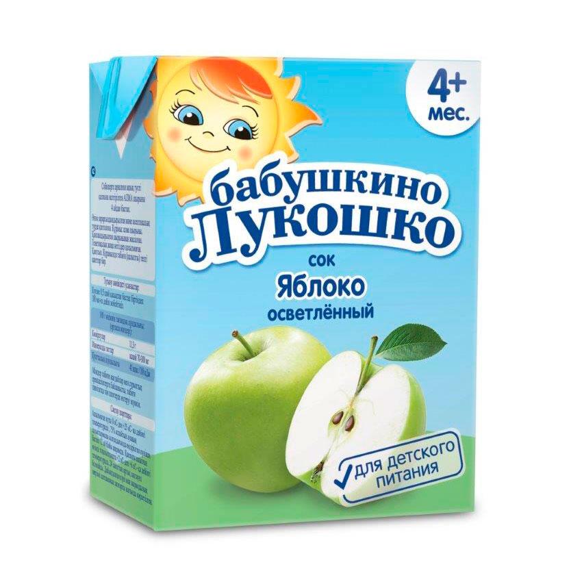 Сок Бабушкино лукошко 200 мл (тетрапак) Яблоко (с 4 мес)<br>