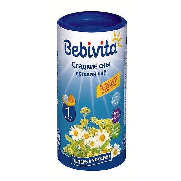 Чай детский Bebivita быстрорастворимый 200 гр Сладкие сны (с 4 мес)<br>