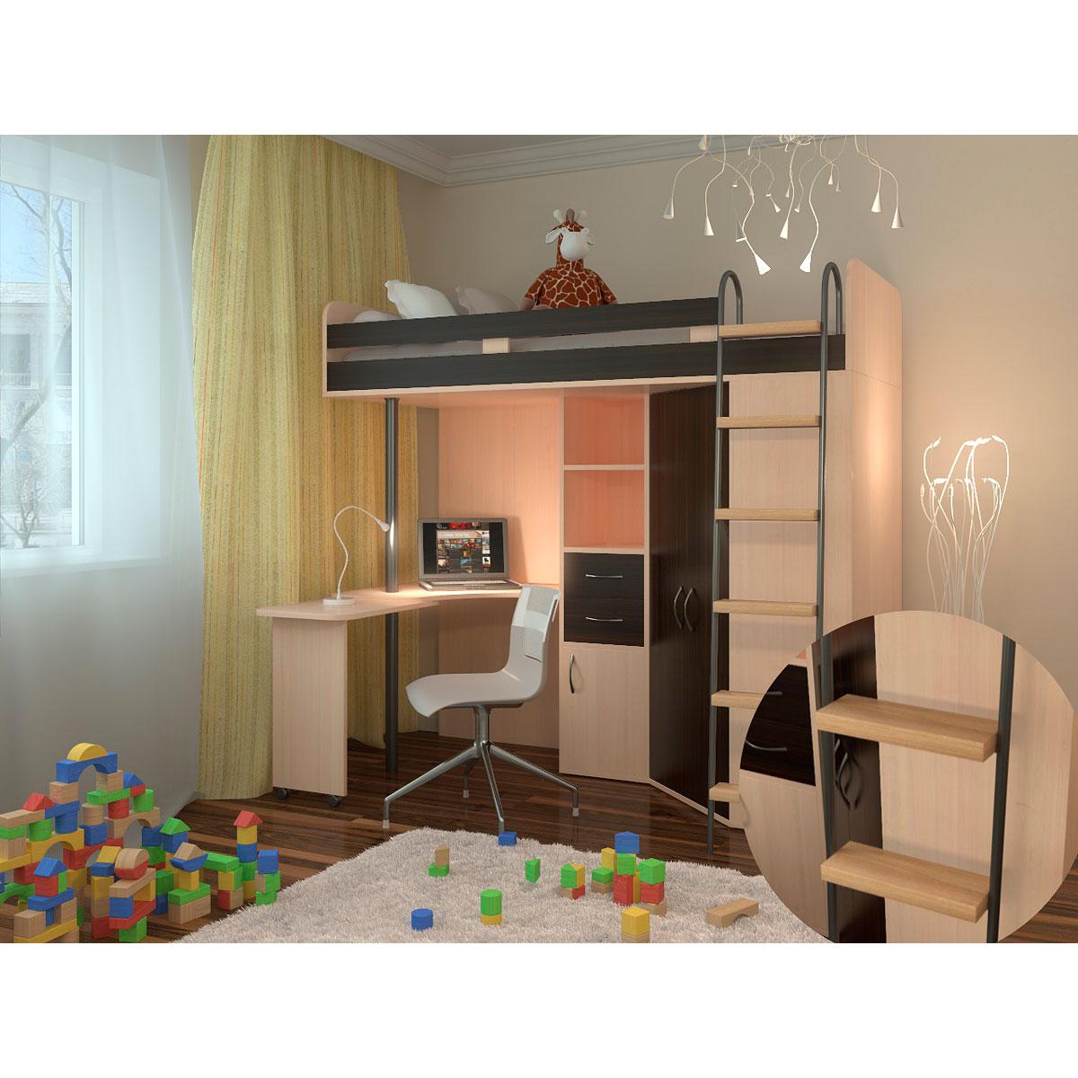 Набор мебели РВ-Мебель М85 Дуб молочный/Венге