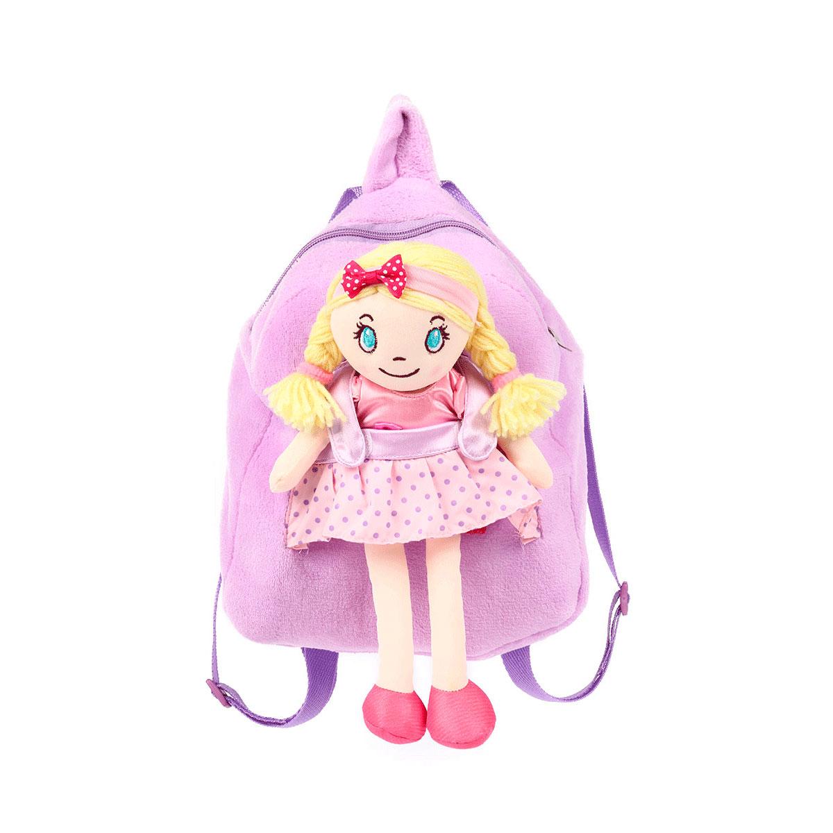 Рюкзак Leader Kids с куклой Блондинка 28 см.