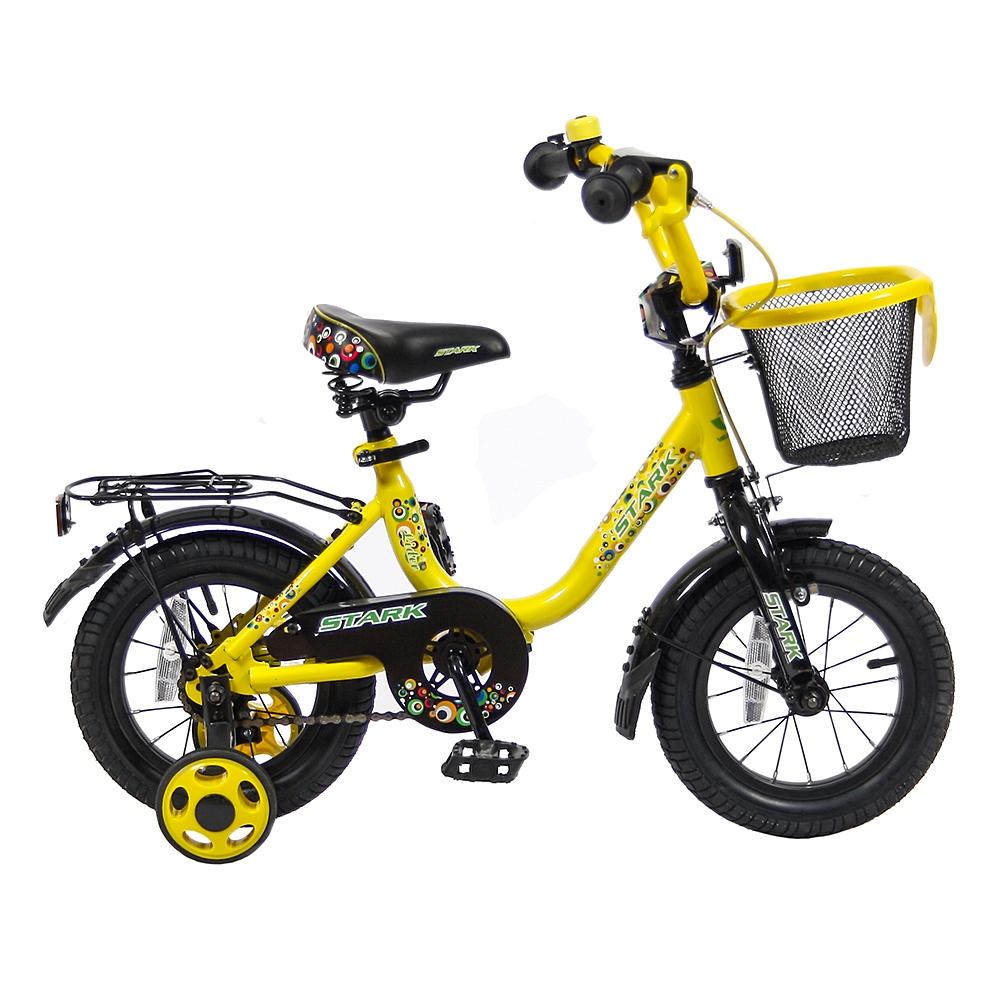 Велосипед двухколесный Velolider 12 Lider Stark 12U-009 Желтый/Черный<br>