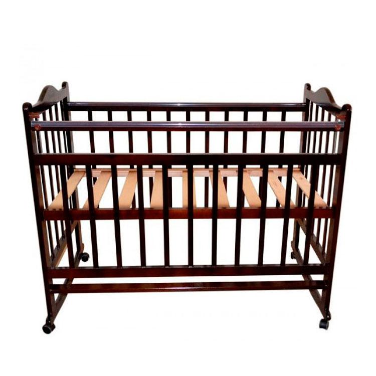 Кроватка Briciola 1 колесо-качалка Темная<br>