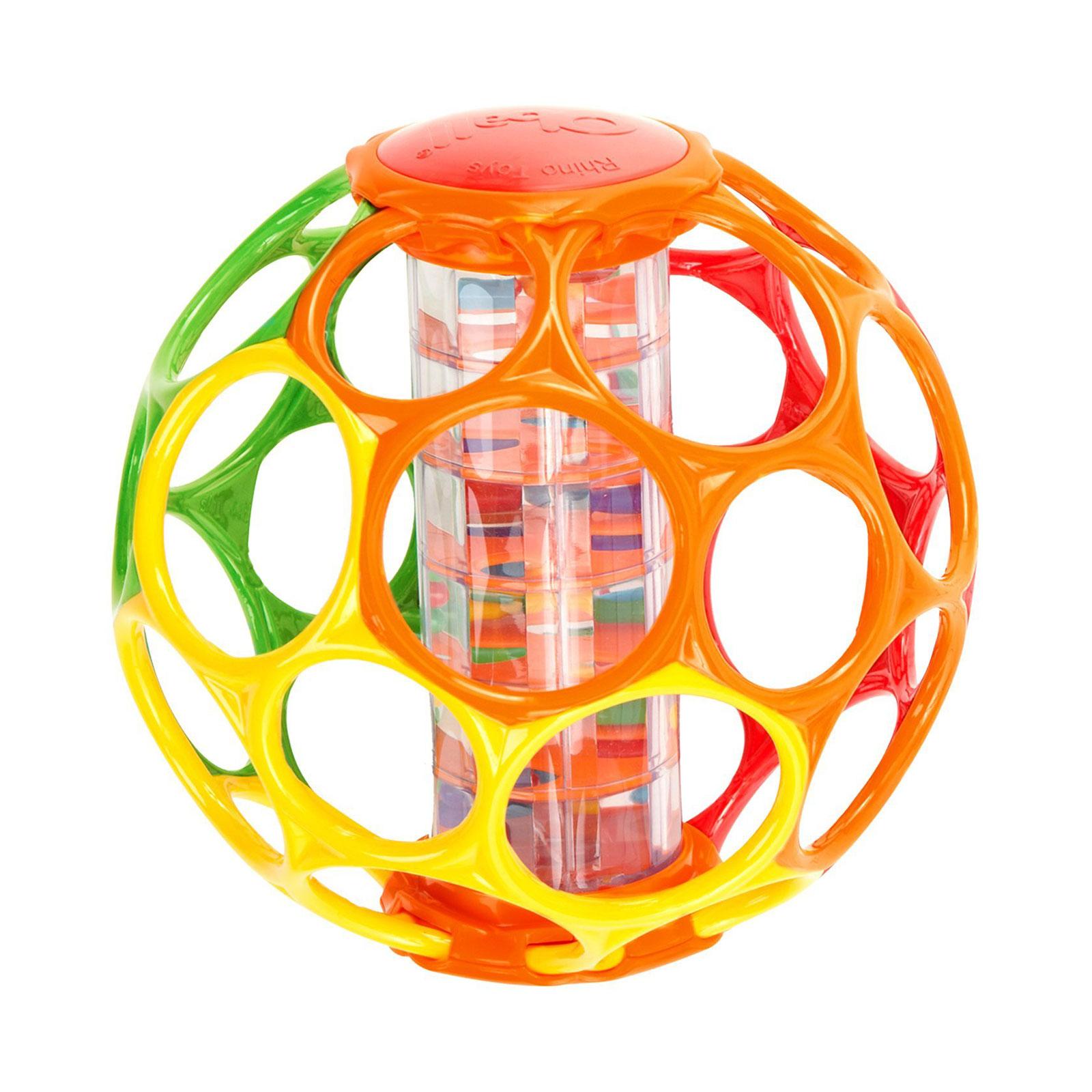 Развивающая игрушка Rhino Toys Мячик Oball с погремушкой от 0 мес.<br>
