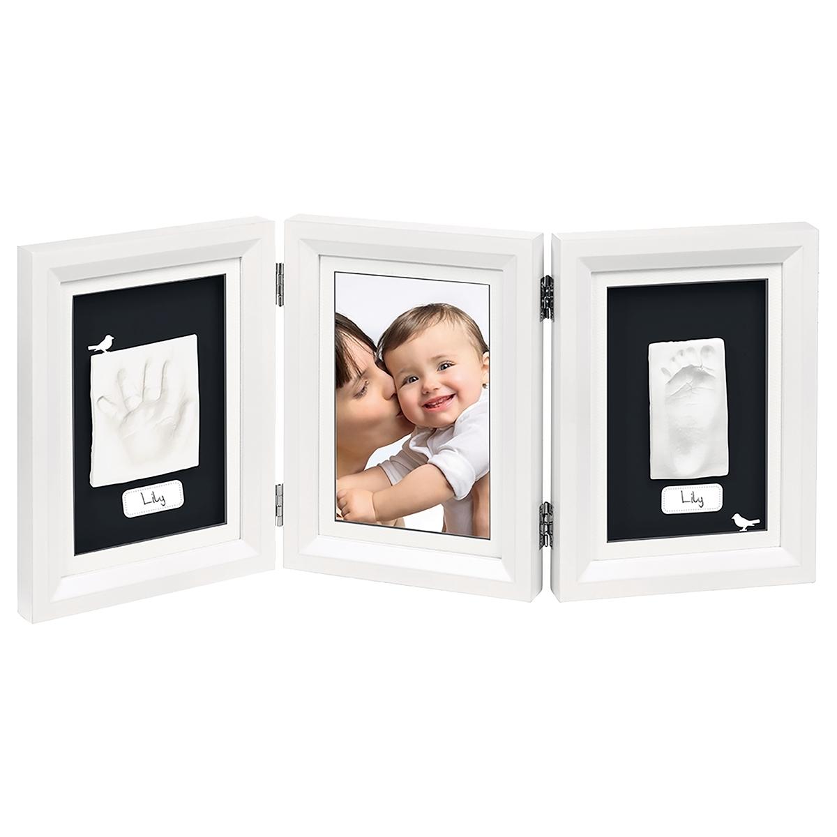 Рамочка Baby Art Double Print Frame (тройная) Белая (подложка черная)<br>