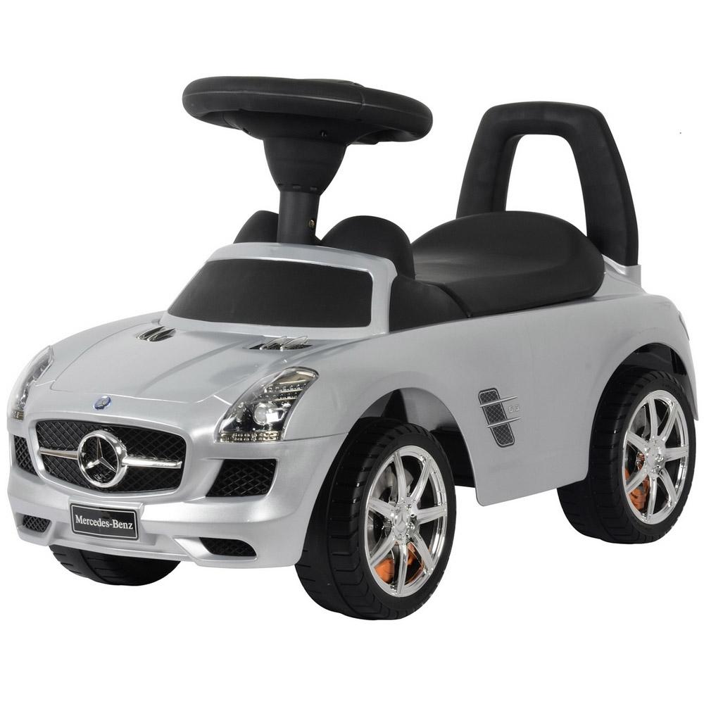 Каталка-автомобиль RT Mercedes-Benz с музыкой Серебро Металлик<br>