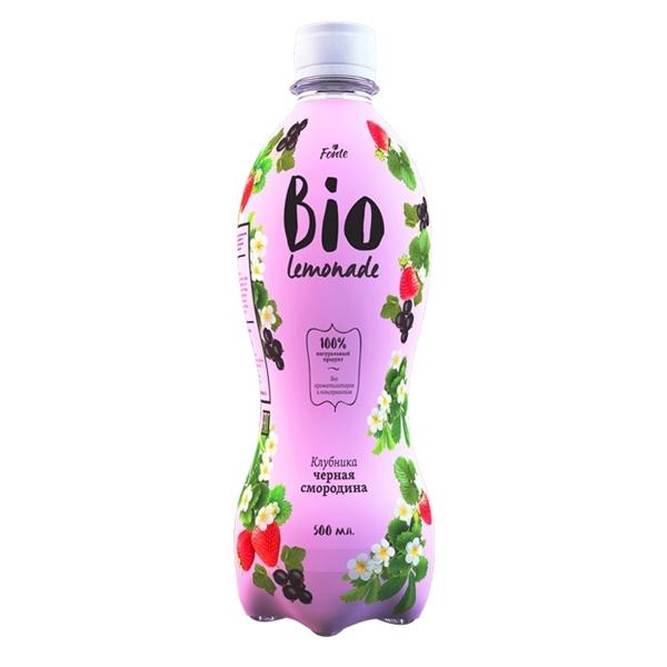 Лимонад Fonte Bio lemonade 0,5 л клубника чёрная смородина<br>