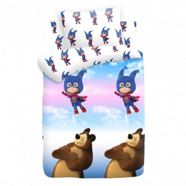 Комплект постельного белья детский хлопок Непоседа Маша и Медведь baby Маша супергерой