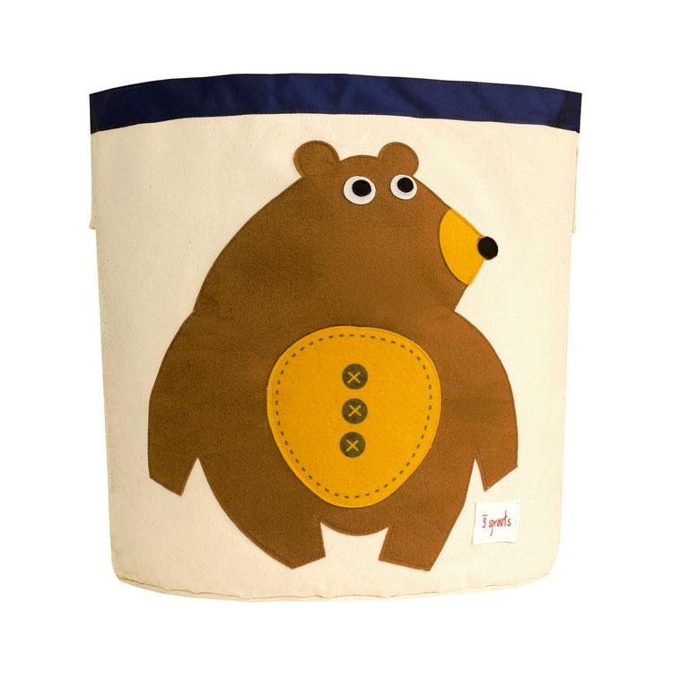 Корзина для хранения 3 Sprouts Мишка (Toffee Bear) Арт. 67581<br>