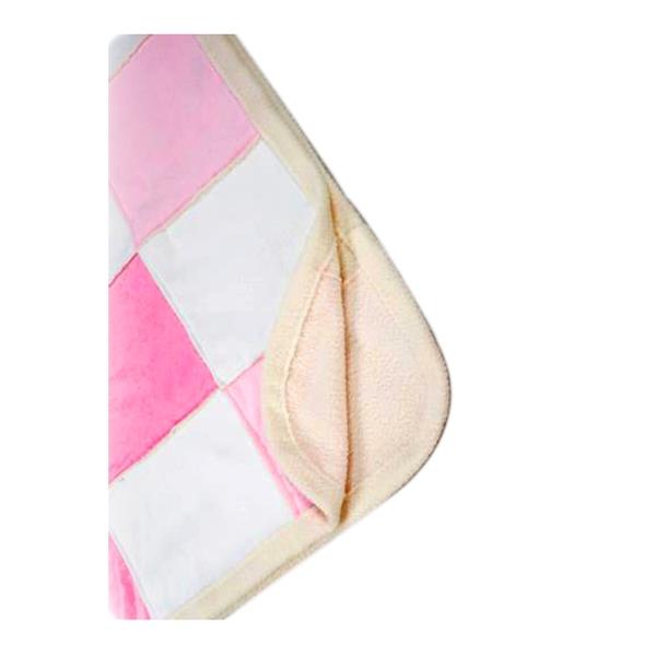Покрывало-шерпа лоскутное Непоседа 110х140 см Розовое