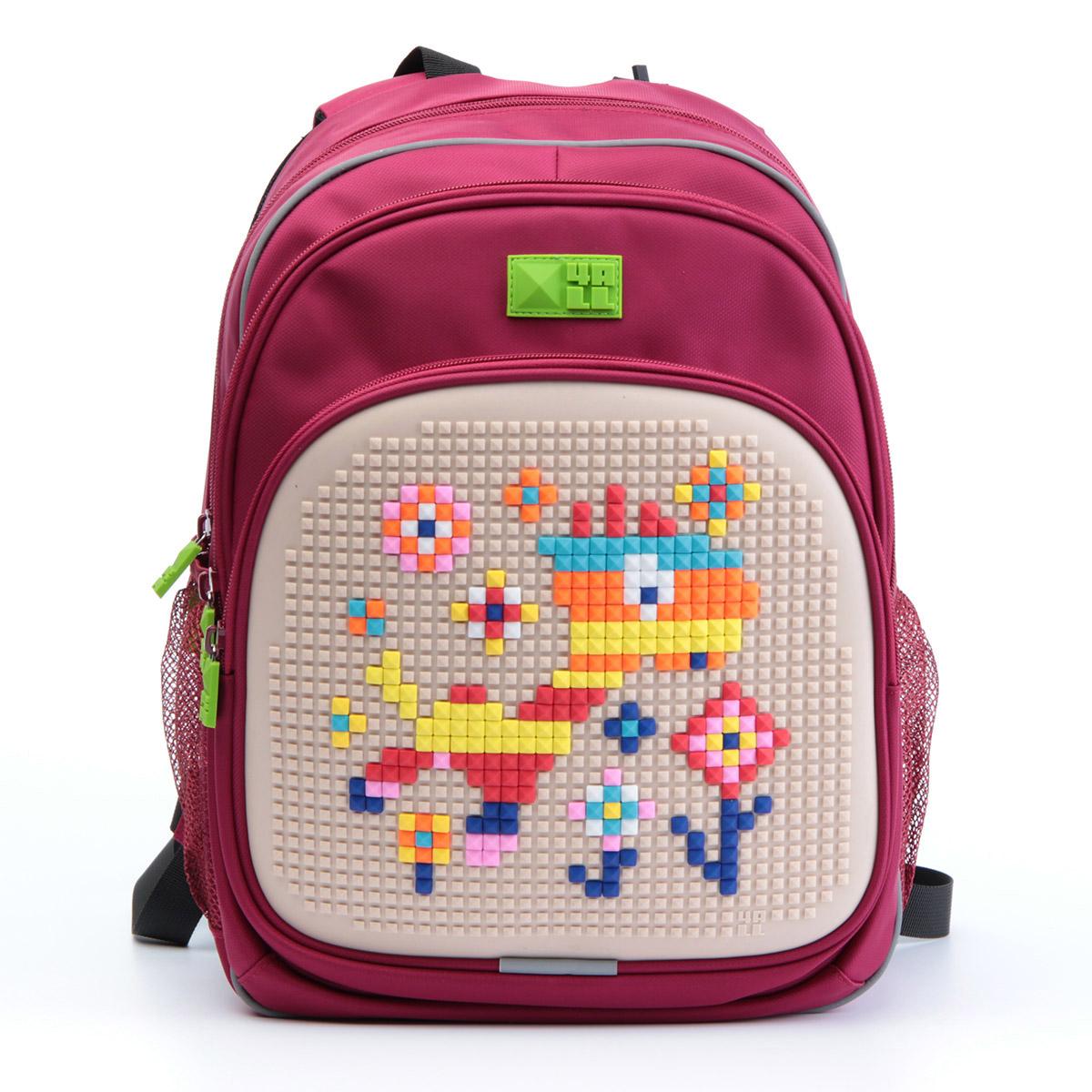 Рюкзак детский 4all KIDS Веселый жираф Малиновый + Пиксели<br>