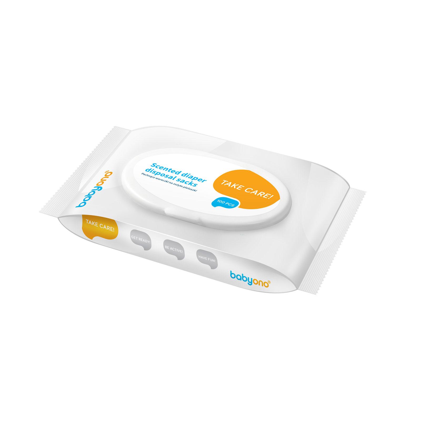 Пакеты BabyOno для утилизации подгузников Ароматизированные (100шт)<br>
