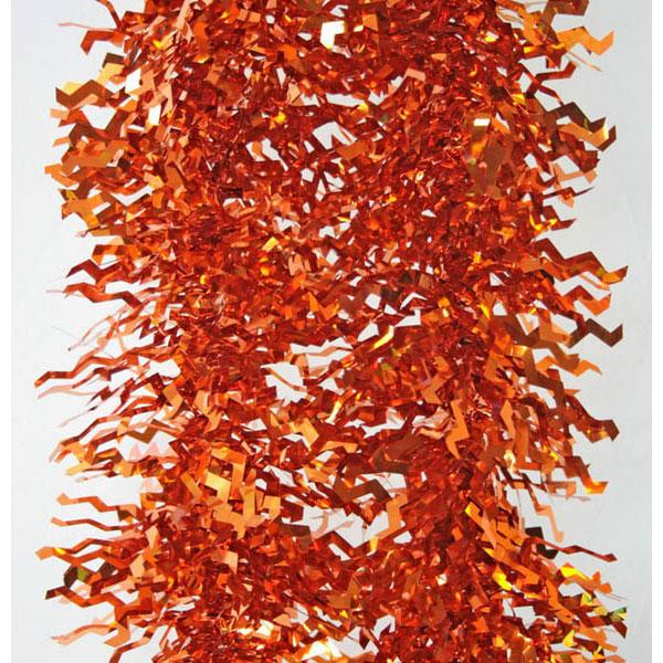 Мишура Winter Wings одноцветная голограмма блестящая Оранжевая 100 мм Длина 2 м<br>