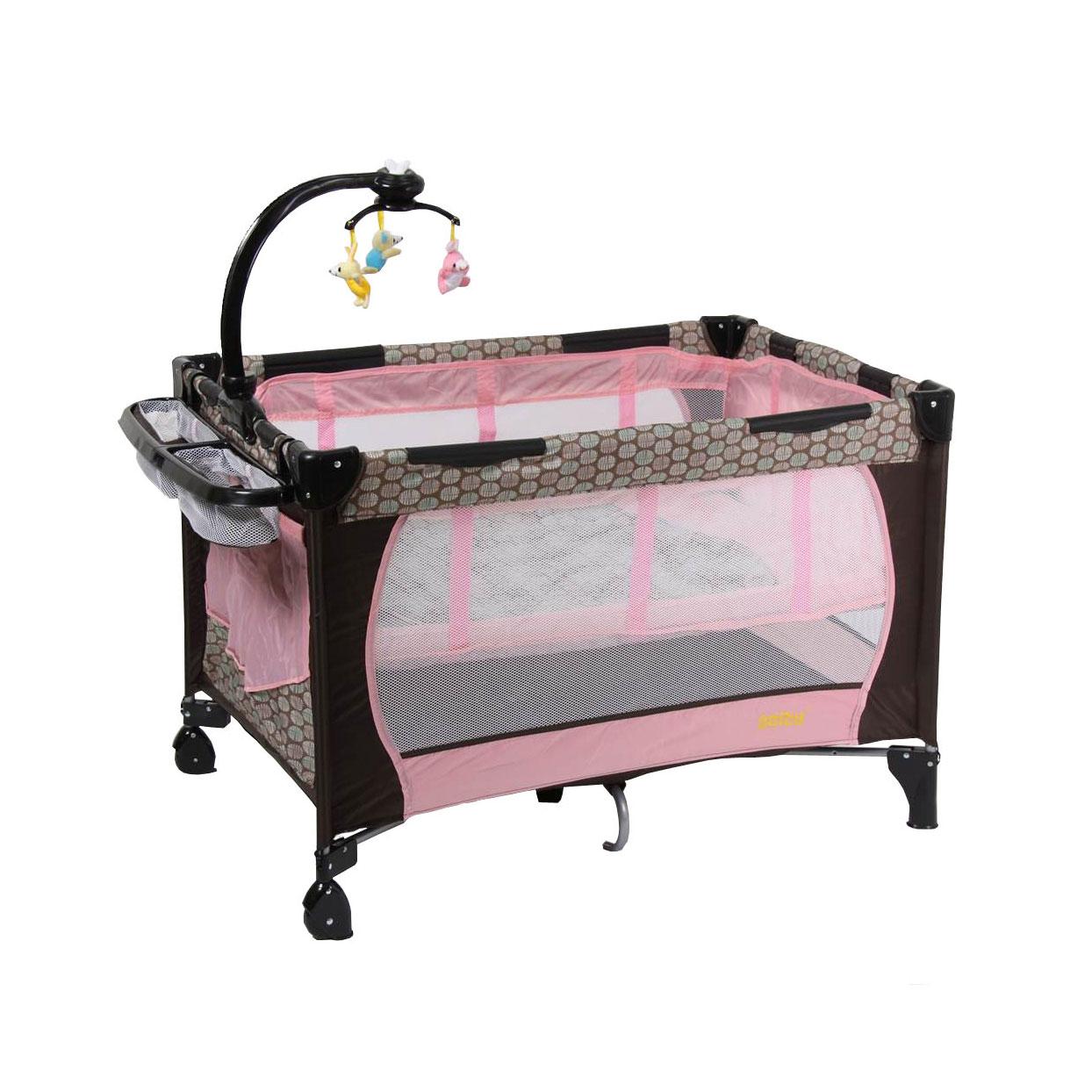 Манеж SELBY модель 212 Розовый<br>
