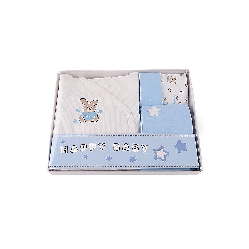 Подарочный набор Наша Мама Зайка для мальчика рост 62 голубой<br>