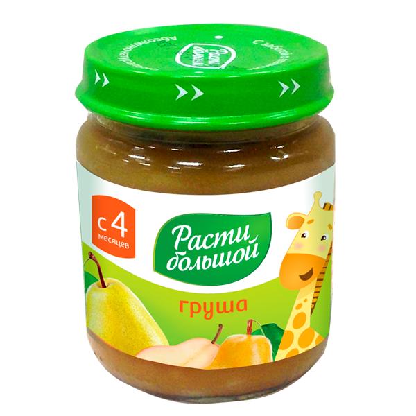 Пюре Расти Большой фруктовое 100 гр Груша (с 4 мес)<br>