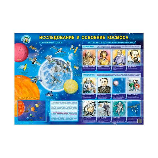Плакат Маленький гений Исследование и освоение космоса<br>