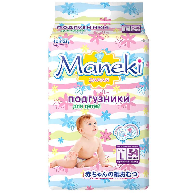Подгузники Maneki Fantasy 9-14 кг (54 шт) Размер L<br>
