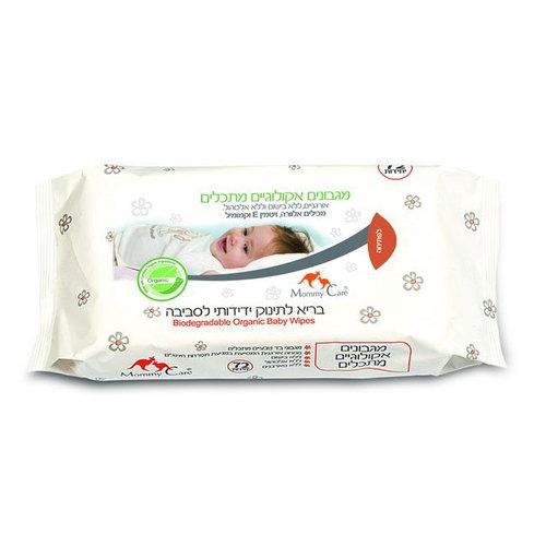 Салфетки влажные Mommy Care органические (с 0 мес) 72 шт