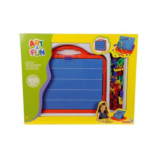 Развивающие игрушки Simba Магнитная доска с набором букв и цифр (45 см.)<br>