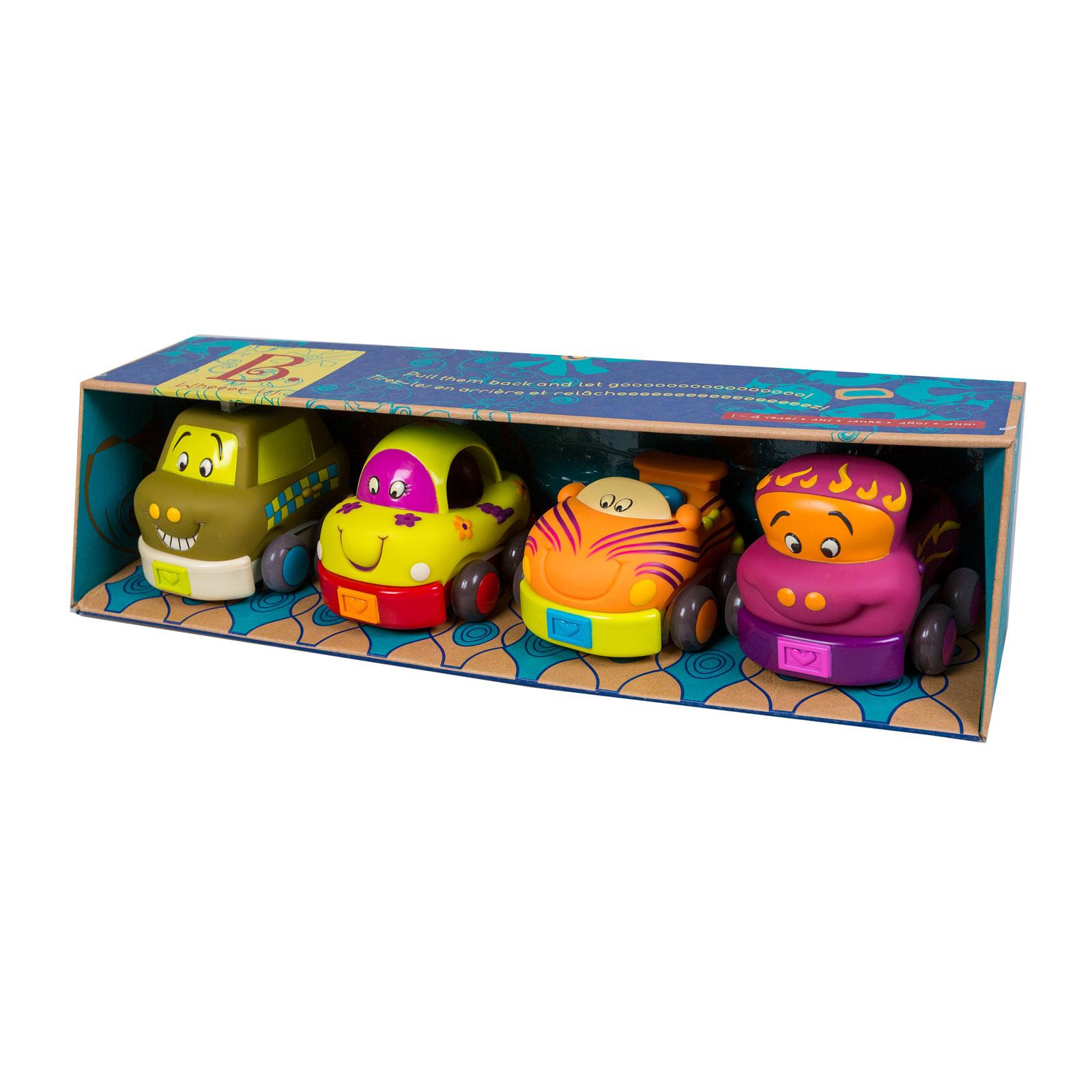 Наборы игровые B Dot Набор Wheeee-Is из 4 игрушечных машинок от 12 мес.<br>