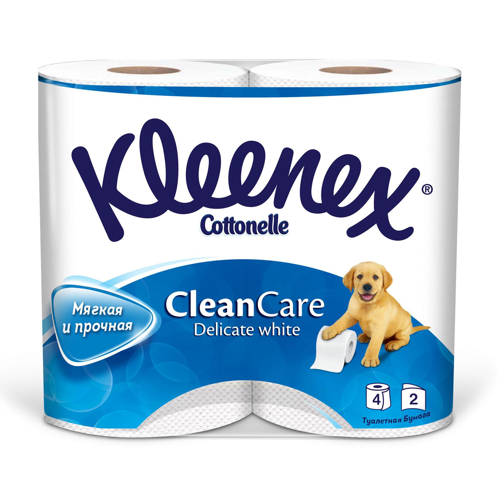 Туалетная бумага Kleenex деликат (2 слоя) 4 шт<br>