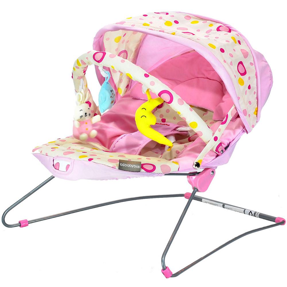 Шезлонг BEBABYBUS Baby Bouncer UC42 Pink<br>