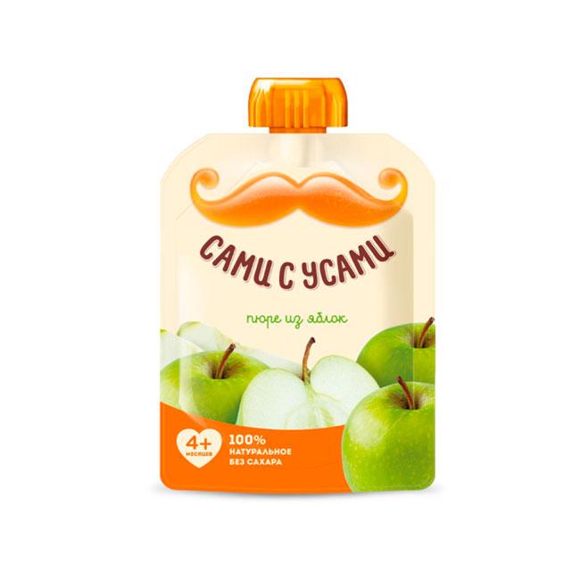 Пюре Сами с усами фруктовое 100 гр Яблоко (с 4 мес)<br>