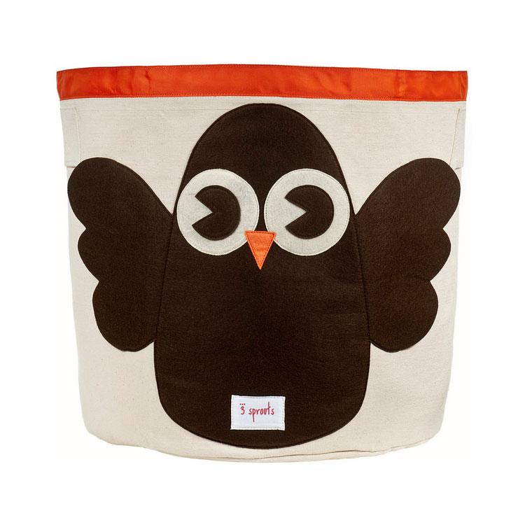 Корзина для хранения 3 Sprouts Сова (Brown Owl) Арт. 67551<br>