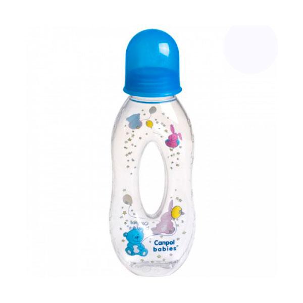 Бутылочка Canpol Babies с силиконовой соской с отверстием синяя (c 6 мес)<br>