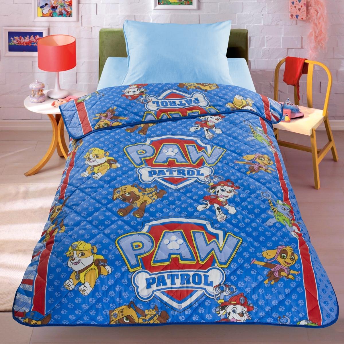 Покрывало-одеяло Letto 140*210 Догги Голубой<br>