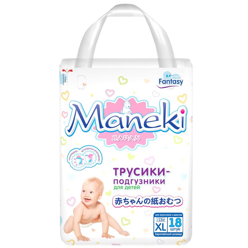 Трусики Maneki Fantasy Mini 12 кг 18 шт Размер XL<br>