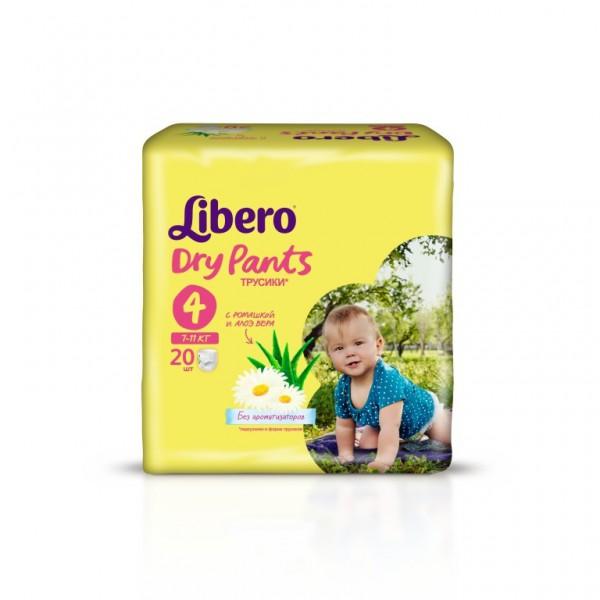 Трусики Libero Dry Pants Maxi 7-11 кг (20 шт) Размер 4<br>