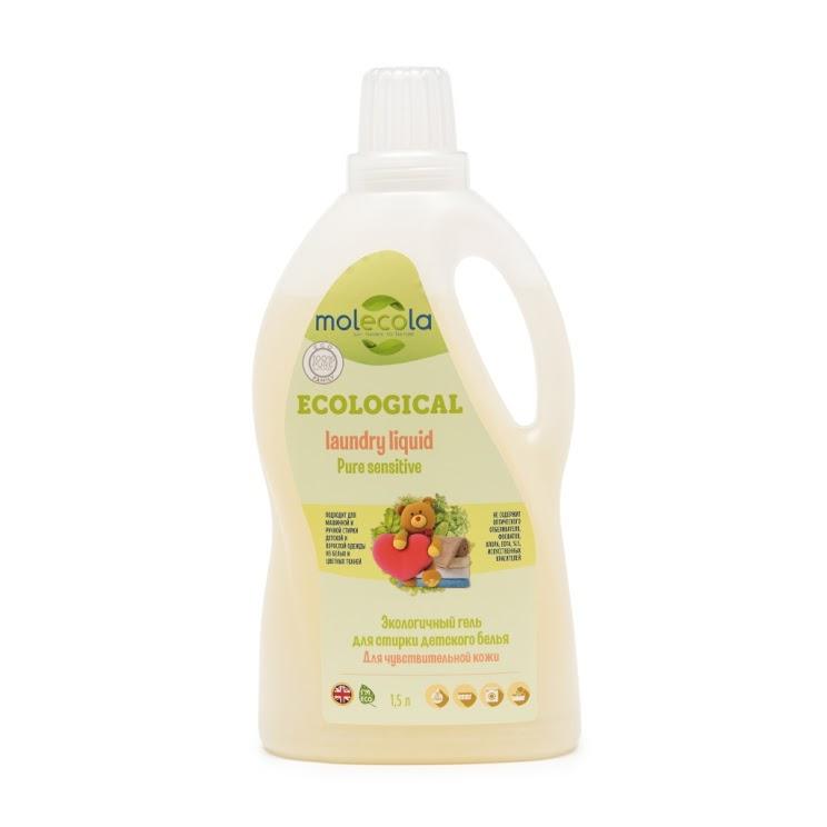Гель для стирки детского белья Molecola pure sensitive для чувствительной кожи экологичный 1,5л<br>