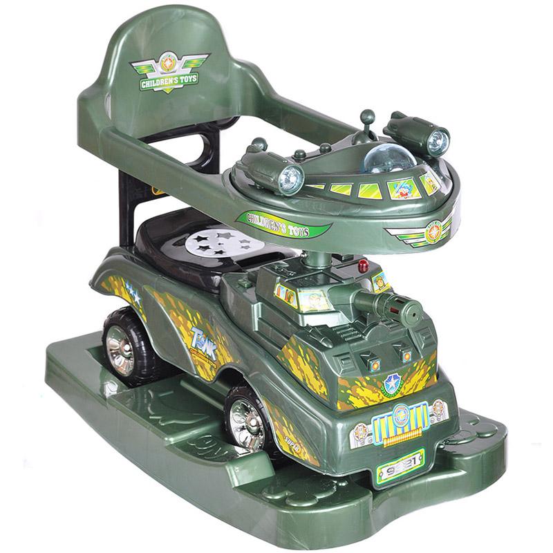 Каталка 3в1 ToysMax Боевая Машина Зеленая<br>