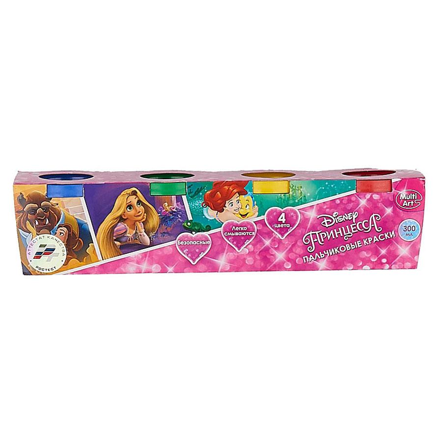 Пальчиковые краски Multiart Принцессы Disney 4 цвета х 75 миллиграмм<br>