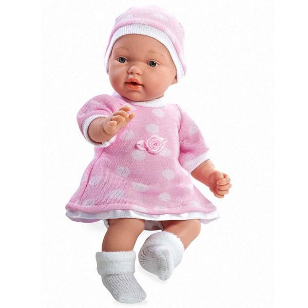 Кукла Arias 28 см В розовом платье и шапочке с соской<br>