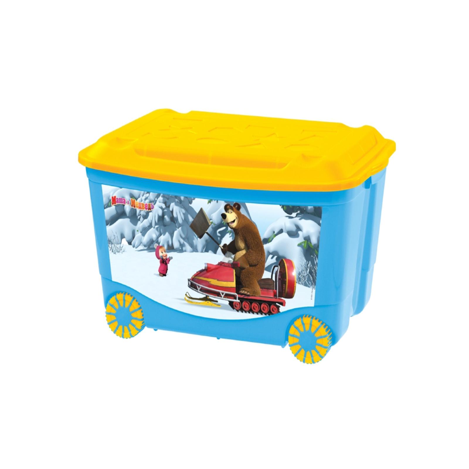 Контейнеры для хранения игрушек Петропласт Маша и Медведь На колесиках 50 л<br>