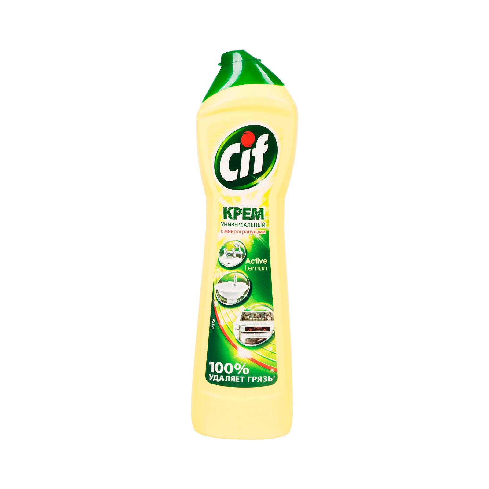 Чистящий крем CIF актив лимон 500мл<br>