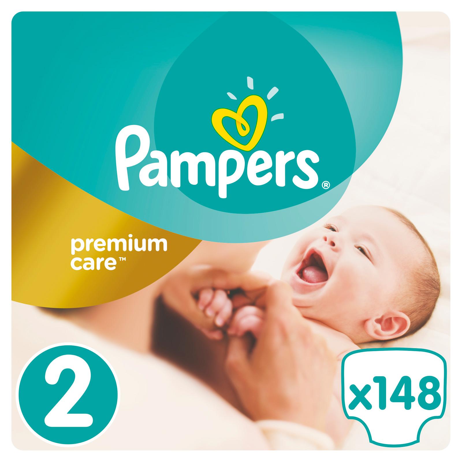 Подгузники Pampers Premium Care Mini 3-6 кг (148 шт) Размер 2<br>